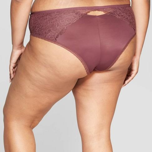 5da5e05556b Women's Plus Size Micro Cheeky With Lace - Auden™ Burgundy Mist X : Target