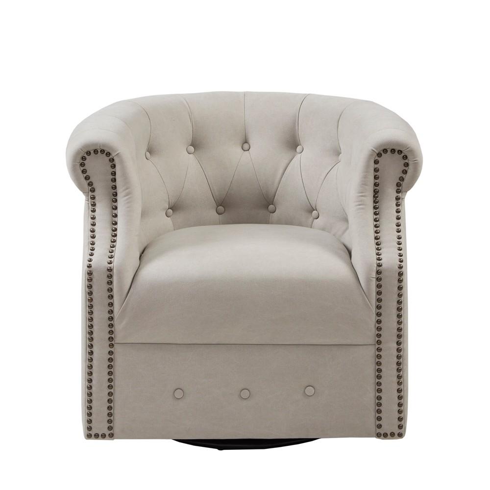 Roxbury Swivel Chair Beige