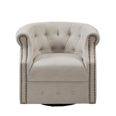 Roxbury Swivel Chair Beige - image 1 of 4