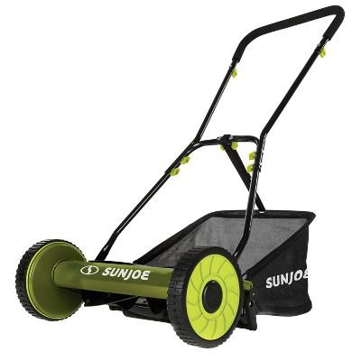 Sun Joe MJ500M Manual Reel Mower w/ Grass Catcher | 16 inch