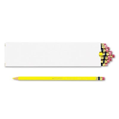 Prismacolor Col-Erase Pencil w/Eraser Yellow Lead/Barrel Dozen 20047