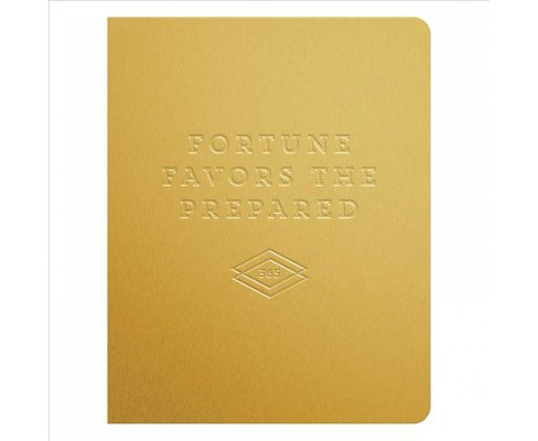 Fortune Favors the Prepared Gold Deluxe 13 Month Undated Planner -  (Paperback) - image 1 of 1