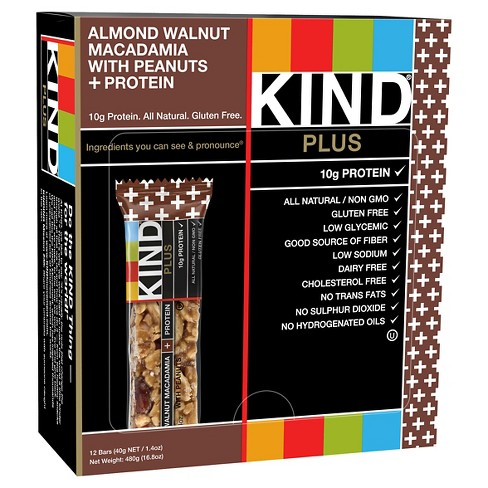 Kind® Almond Walnut Macadamia with Peanuts + Protein Nutrition Bars 12 ct - image 1 of 1