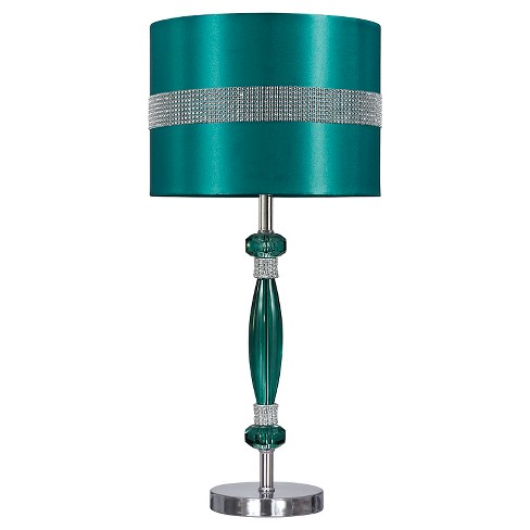 Nyssa Table Lamp Teal/Silver Finish - Signature Design by Ashley - image 1 of 3