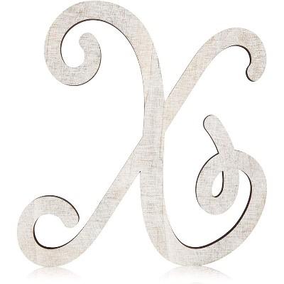 Rustic Wood Monogram Letter X (13 in.)