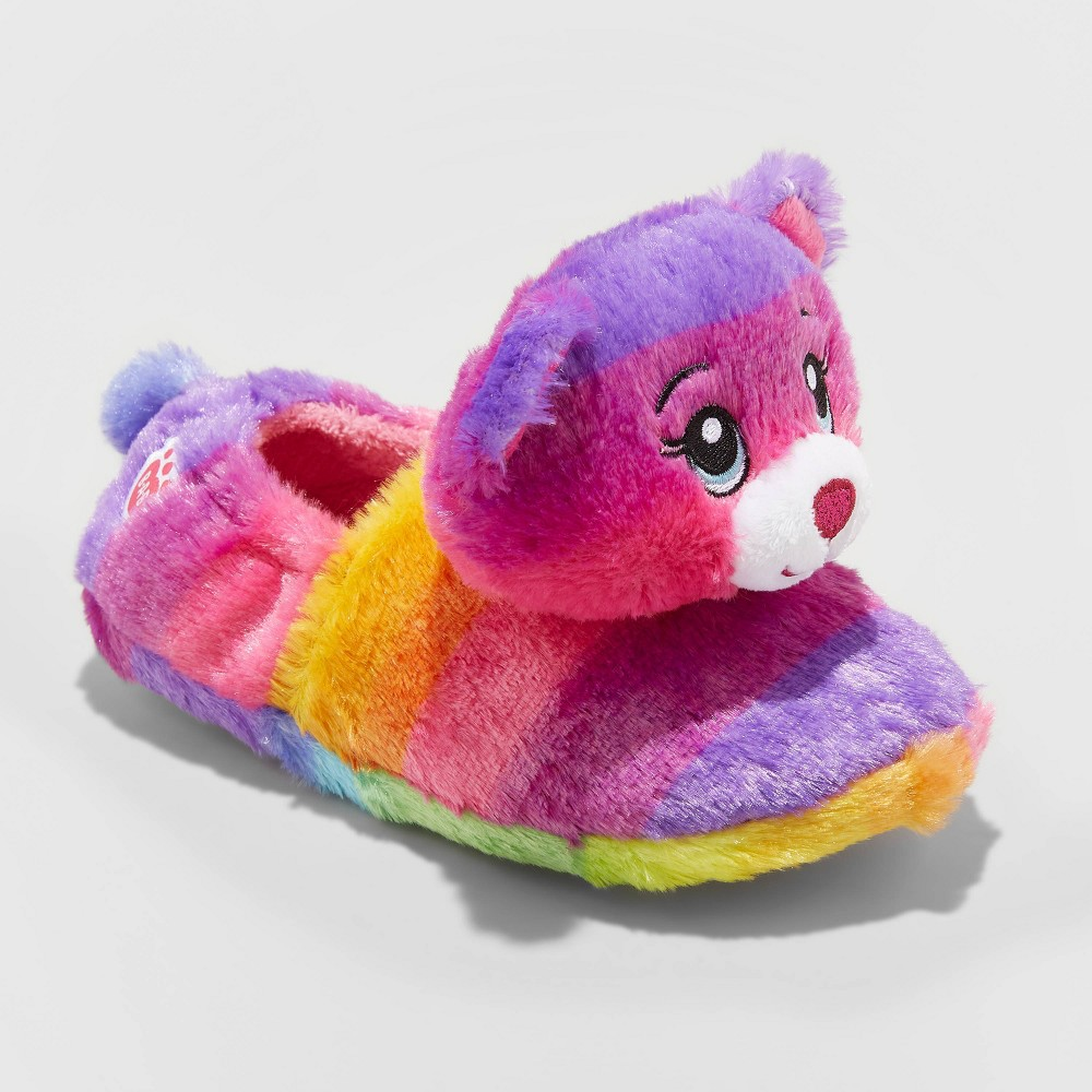 Image of Girls' Build-A-Bear Bootie Slippers - Purple L(4-5), Size: Large (4-5)