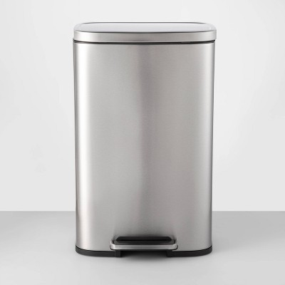 45L Rectangular Step Trash Can Silver - Made By Design™