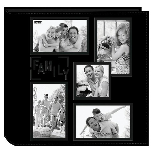 Embossed Collage Frame 5 Up Photo Family Album - image 1 of 1