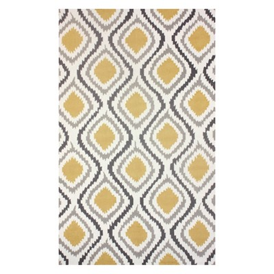 Yellow Solid Hooked Area Rug 6'X9' - nuLOOM