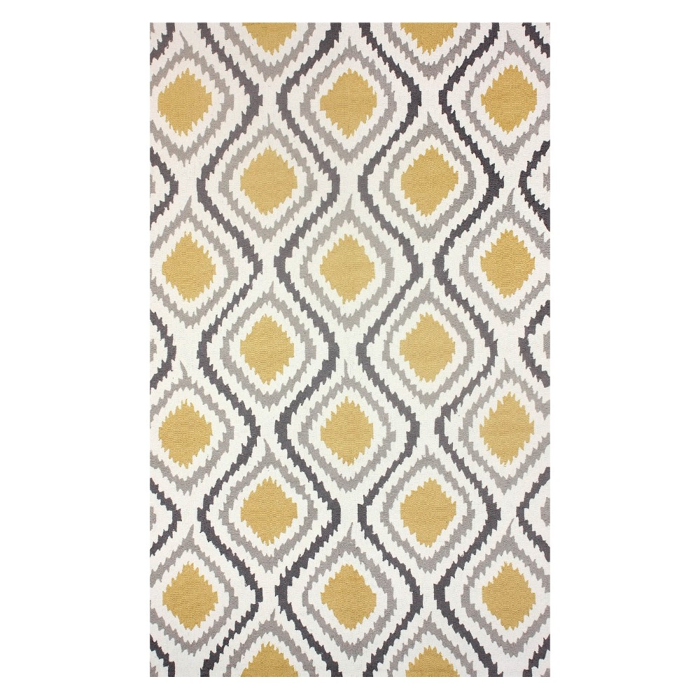 Yellow Solid Hooked Area Rug 6x9 Nuloom Sunflower