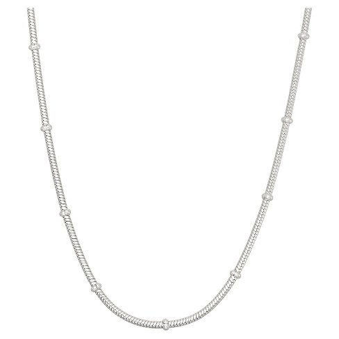 Tiara Sterling Silver Rosary Snake Chain Necklace - image 1 of 1