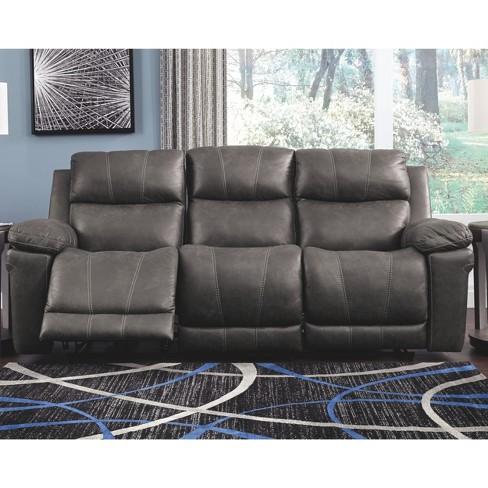 Erlangen Power Reclining Sofa With Adjustable Headrest Mid Gray ...