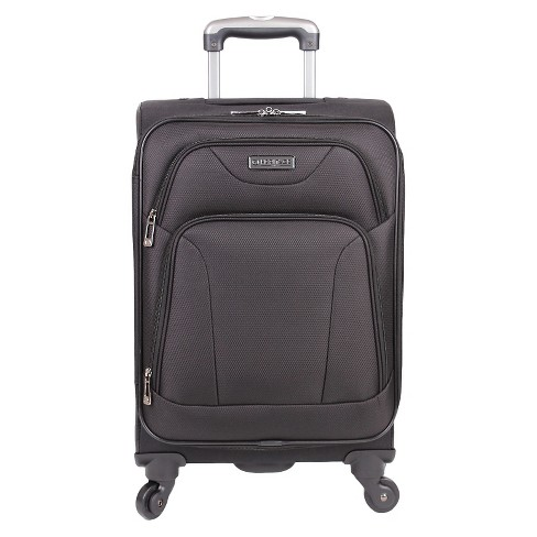 "Heritage Wicker Park Polyester 4 Wheel Expandable Carry-On Suitcase - Black (20"") - image 1 of 5"