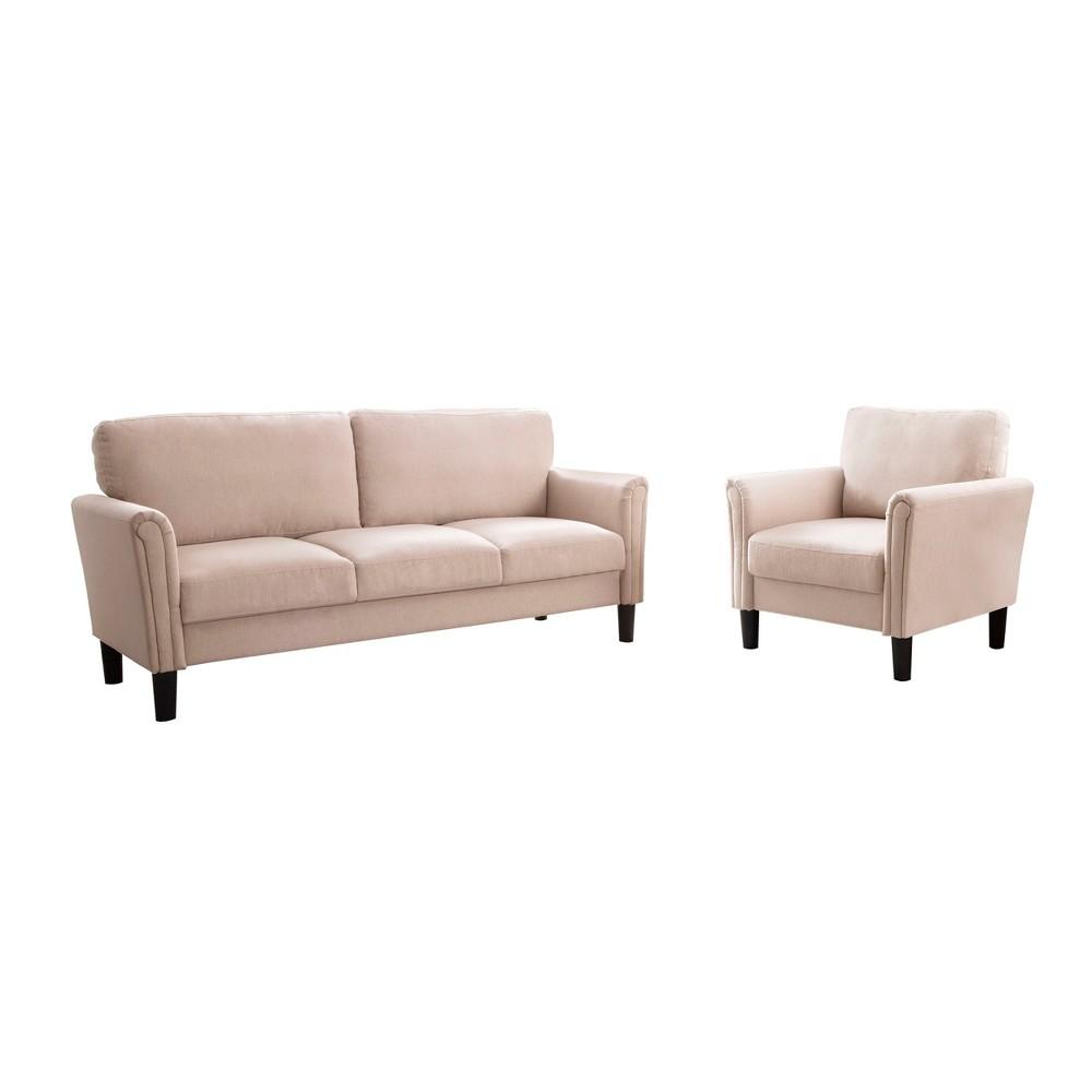 Kason Fabric Sofa and Armchair Set Beige - Abbyson Living