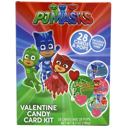 Frankford Valentine's Day PJ Masks Candy Card Kit - 28ct/6.9oz - image 1 of 2