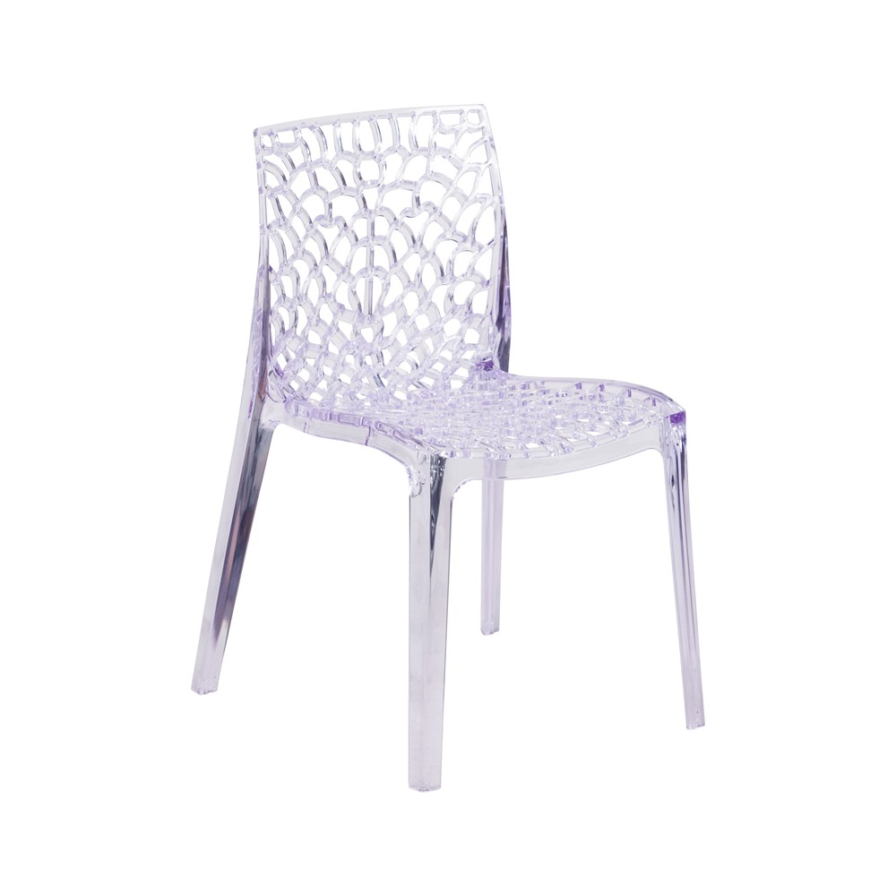 Vision Transparent Stack Side Chair Clear - Riverstone Furniture
