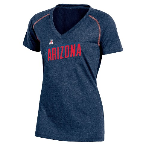 NCAA Women's Workout Warrior V-Neck Mesh Back Performance Soft-Touch T-Shirt Arizona Wildcats - image 1 of 1
