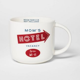 15oz Stoneware Mom's Hotel Mug Cream - Threshold™