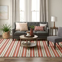 Deals on Threshold Stripe Woven Rug 9x12-ft