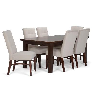 Ezra 7pc Dining Set Platinum   Simpli Home