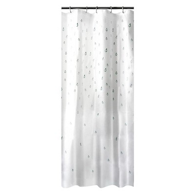 Water Drops Shower Curtain White/Blue - Room Essentials™