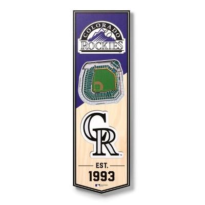 "MLB Colorado Rockies 6""x19"" Stadium 3D View Banner"