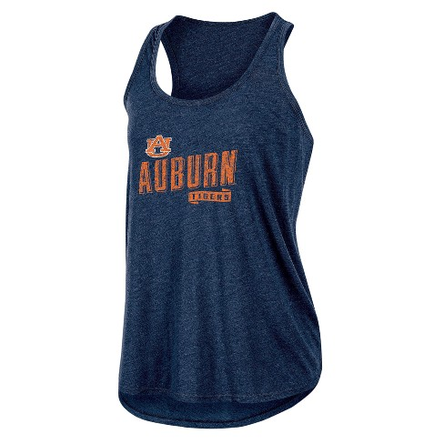 NCAA Women's Gameday Heathered Racerbank Soft Touch Poly Tank Top Auburn Tigers - image 1 of 2