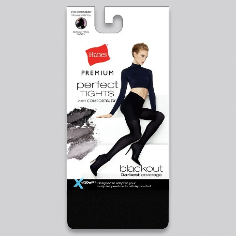 b01b0682f15 Hanes Premium Women s Blackout Tights - Black M   Target