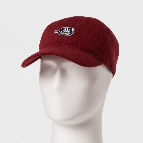 52a2699fbd733 Men s Baseball Hat - Goodfellow   Co™ Red One Size   Target