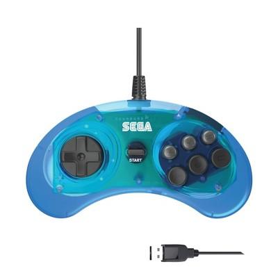 Retro-Bit SEGA Genesis® 6-button Arcade Pad Compatible with PC, Blue