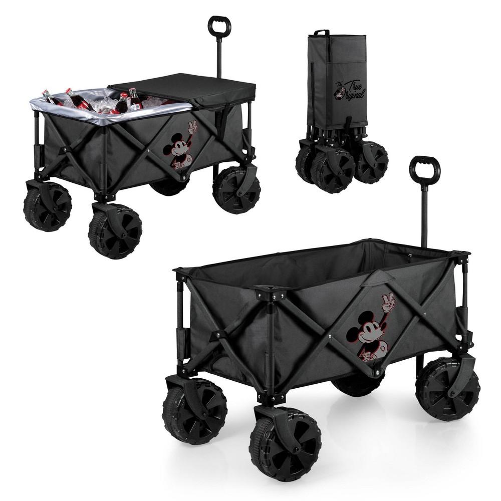 Picnic Time Disney Mickey Mouse Adventure Wagon Elite Editon All Terrain Folding Wagon Black