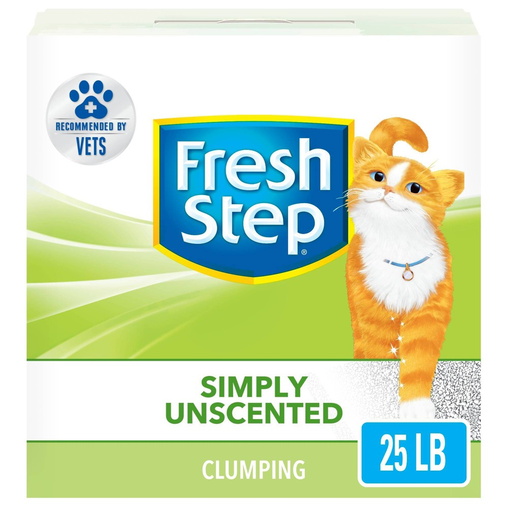 Fresh Step - Simply Unscented Litter - Clumping Cat Litter - 25lbs Compare