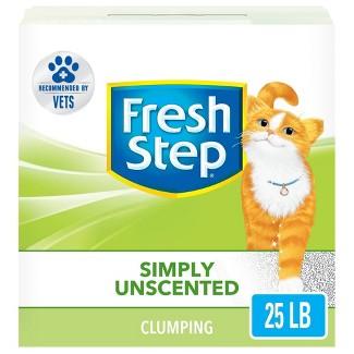 Fresh Step - Simply Unscented Litter - Clumping Cat Litter - 25lbs : Target