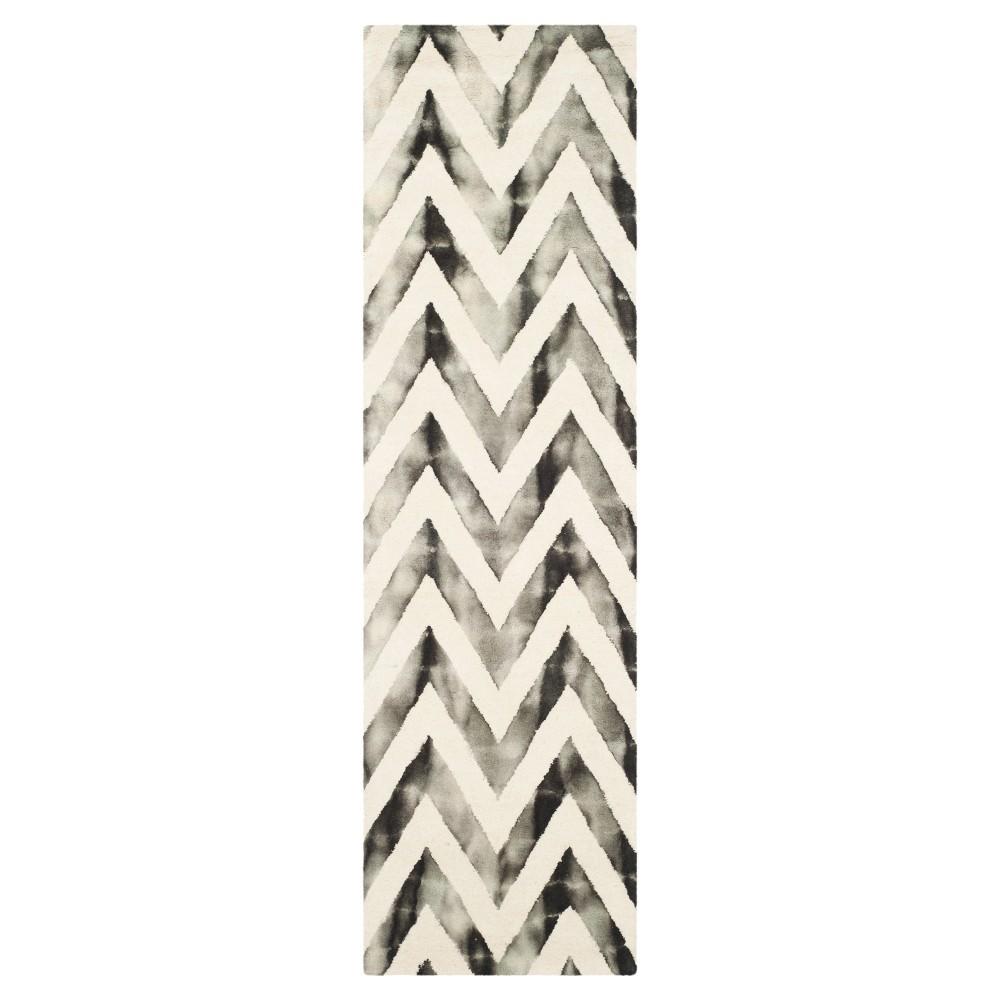Dip Dye Design Runner Ivory/Charcoal