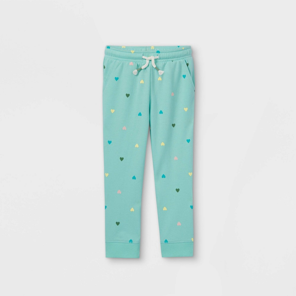 Toddler Girls 39 French Terry Jogger Pants Cat 38 Jack 8482 Teal 5t