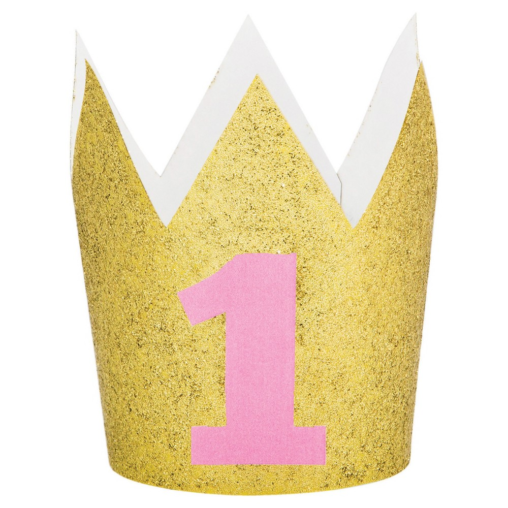 Image of 1st Birthday Girl Crown, wearable party accessories