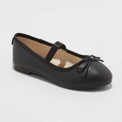Toddler Girls' Becca Slip-On Ballet Flats - Cat & Jack™ Black 7