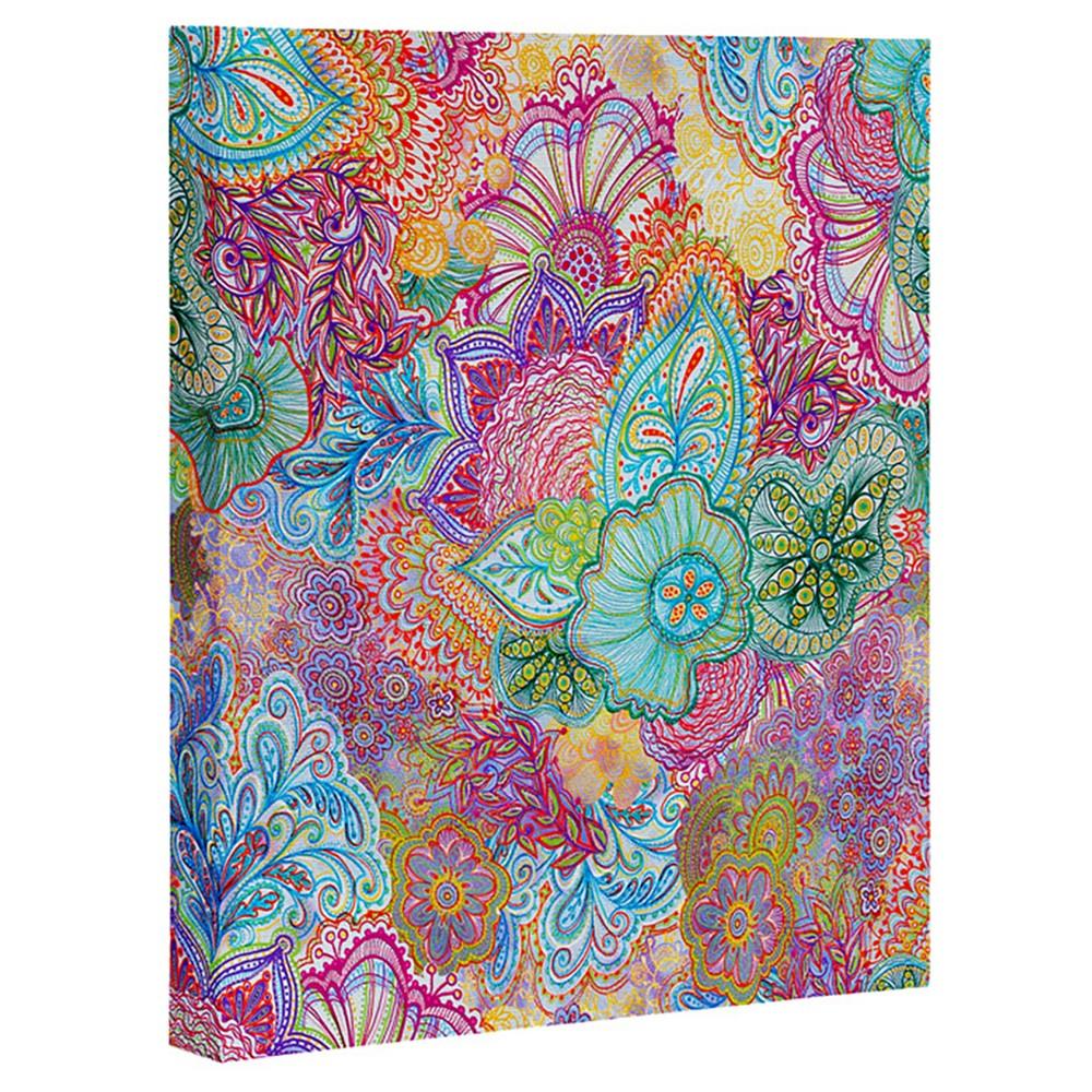 Stephanie Corfee Flourish Allover Art Canvas - Deny Designs, Multi-Colored
