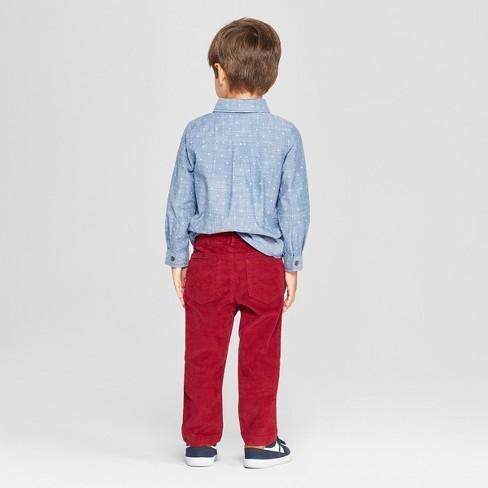 ebb6d39cf Toddler Boys' 3pc Polka Dot Shirt, Pants and Bow Tie Set - Cat & Jack™  Blue/Dark Red