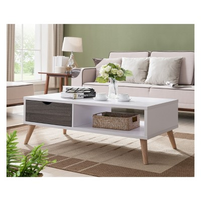 Barrios Transitional Coffee Table Distressed Gray and White - HOMES: Inside + Out
