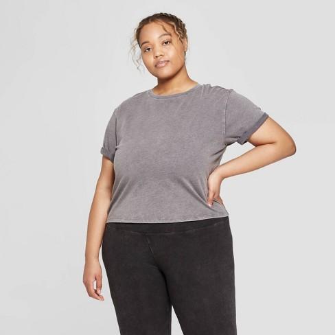 580e2edaf62 Women s Plus Size Short Sleeve Cropped Lounge T-Shirt - Colsie™   Target
