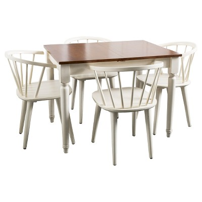 Ladder Creek 5pc Spindle Wood Dining Set - Antique White - Christopher Knight Home