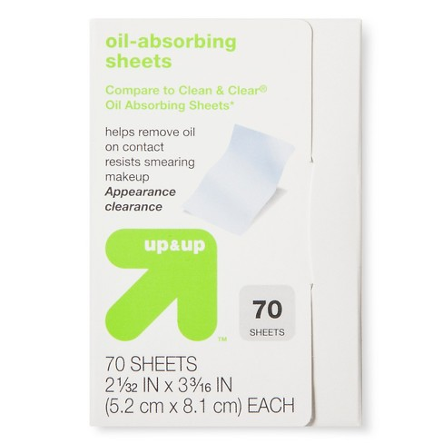 A Little Noticed Target In House Health >> Oil Absorbing Sheets 70ct Up Up Compare To Clean Clear Oil
