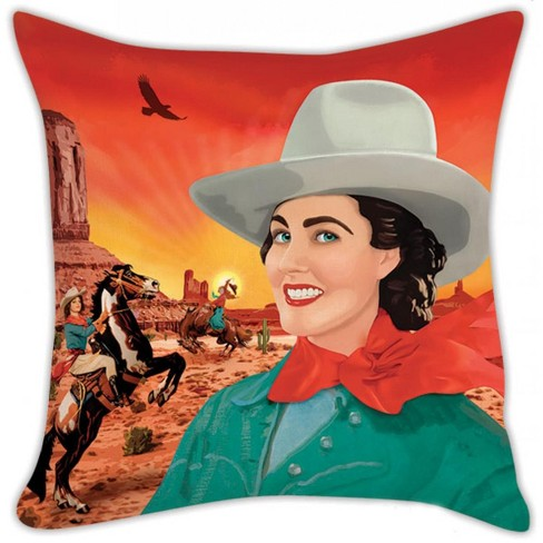 """Accoutrements Cowgirl 18""""X 18"""" Pillow Cover - image 1 of 3"""