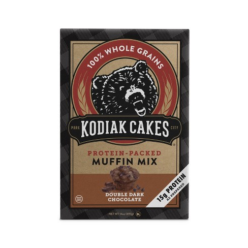 Kodiak Cakes® Protein Packed Muffin Mix Double Dark Chocolate - 14oz - image 1 of 1