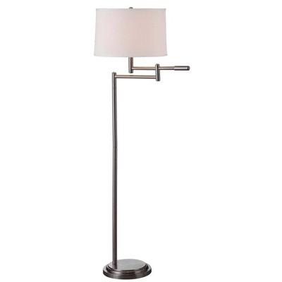 3-way Swing Arm Floor Lamp Brushed Steel - Kenroy Home