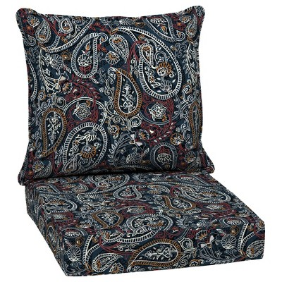Palmira Paisley Outdoor Cushion Set Blue - Arden Selections