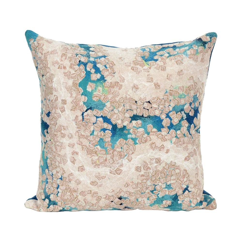 Blue Visions Iii Elements Indoor/Outdoor Throw Pillow (20
