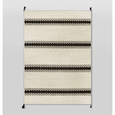 5' x 7' Outdoor Rug Argyle Stripe Black - Threshold™