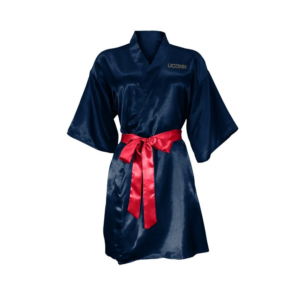 NCAA UConn Huskies Little Earth Satin Kimono - S/M